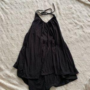 TOBI dress black size medium sexy hi low